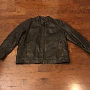 Men's Black Rivet faux Leather jacket